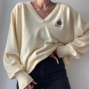 Vintage Oversized Club Knit Pullover Sweater